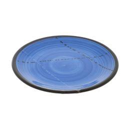 "Serving Plate or Dish, Handmade Ceramic - Blue 8.6"" (22cm)"