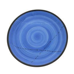 "Main Course Serving Plate or Dish, Handmade Ceramic - Blue 10.6"" (27cm)"