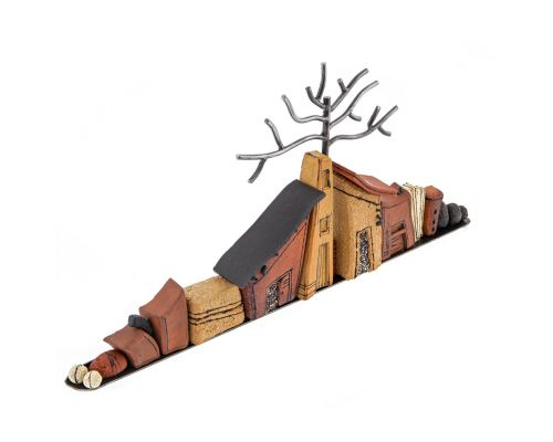 "Ceramic ""Houses"" - Modern Handmade Decorative Sculpture - Large 25"" (64cm)"