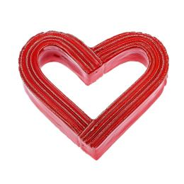 Love Heart - Red Glossy Ceramic - Handmade Tabletop Decor
