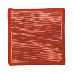 Διακοσμητική Πιατέλα - Κεραμική, Γραμμικό Μοτίβο - Κόκκινη, Μεγάλη