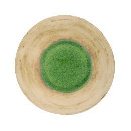 Διακοσμητική Πιατέλα - Κεραμική με Πράσινο Γυαλί