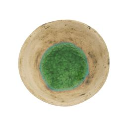 Κεραμικό Μπωλ με Πράσινο Γυαλί