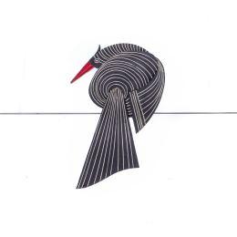 Κεραμικό Πουλί - Μοντέρνο Διακοσμητικό Τοίχου – Μαύρο, Σχέδιο Β'