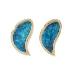 Διακοσμητικό Τασάκι - Κεραμικό με Μπλε Γυαλί