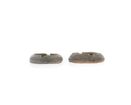Σετ Διακοσμητικά Τασάκια - Κεραμικά με Μπλέ Γυαλί
