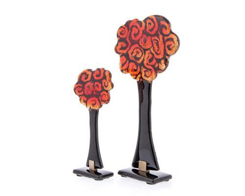 Σετ 2 Γυάλινα Διακοσμητικά Δέντρα, 32cm