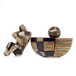 Γλυπτό Ανδρική Φιγούρα με Βάση - Κεραμικό Διακοσμητικό