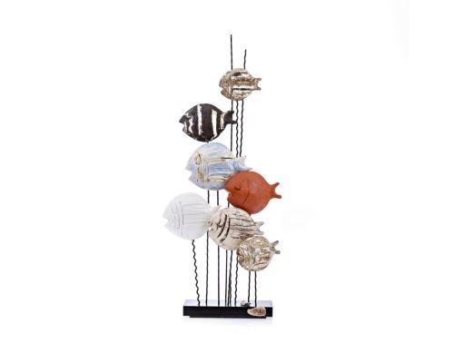 Γλυπτό 7 Ψάρια - Κεραμικό Διακοσμητικό, Μεγάλο