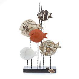 Γλυπτό 5 Ψάρια - Κεραμικό Διακοσμητικό, Μεσαίο