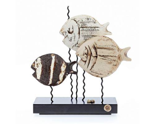 Γλυπτό 3 Ψάρια - Κεραμικό Διακοσμητικό, Μικρό