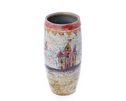 "Decorative Vase - Handmade Ceramic Table top Art Decor - Tall, 23cm (9"")"