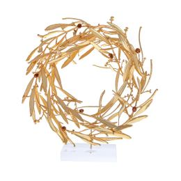 Στεφάνι Ελιάς - Επίχρυσο 24Κ Διακοσμητικό με Καρπούς, Μεγάλο