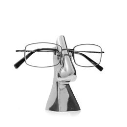 Eyeglasses or Sunglasses Holder - Handmade Metal Decorative Desk Accessory - Silver