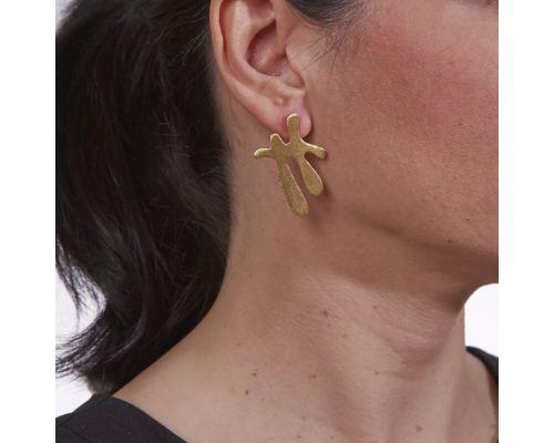 Σκουλαρίκια, Επίχρυσα - Σχέδιο Μ