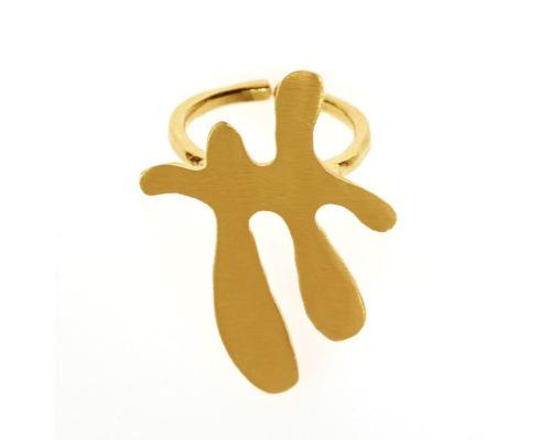 Δαχτυλίδι, Επίχρυσο - Σχέδιο Μ
