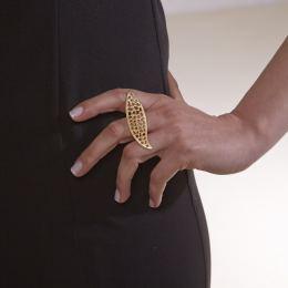 Δαχτυλίδι, Επίχρυσο - Διάτρητο