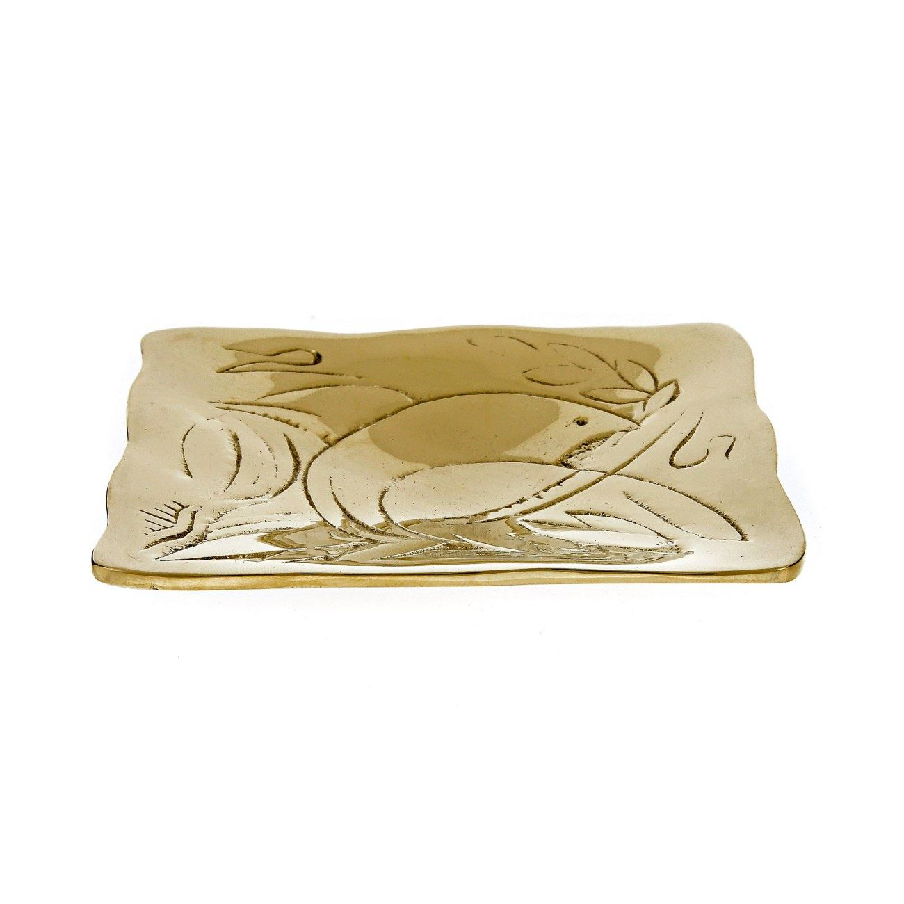 Decorative Metal Plate Engraved Dove Bird Design - Handmade Solid Bronze Gold Color 9.5x9.5cm  sc 1 st  Elite Crafters & Decorative Metal Plate Engraved Dove Bird Design - Handmade Solid ...