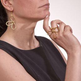 Σκουλαρίκια, Επίχρυσα - Μαργαρίτα