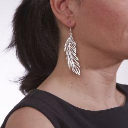 Σκουλαρίκια, Επάργυρα - Φτερό
