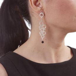 Σκουλαρίκια, Επάργυρα με Όνυχα - Κύκλοι