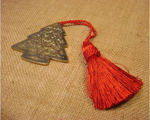 Γούρι - Μεταλλικό Έλατο με Φούντα