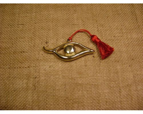 Γούρι - Μεταλλικό Μάτι Περίγραμμα με Φούντα