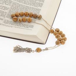 Κομπολόι από Ίασπις και Ασήμι 925