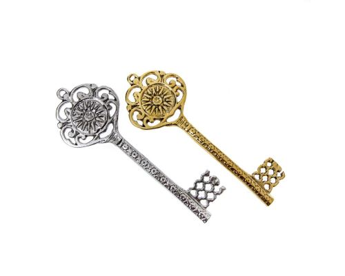 Διακοσμητικό Κλειδί - Γούρι, Μεταλλικό, Μεγάλο - Βεργίνα