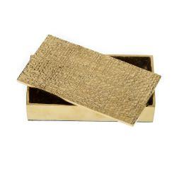 Μεταλλικό Κουτί - Διακοσμητικό με Σαγρέ Καπάκι