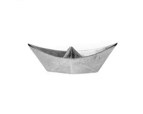 Βάρκα - Μεταλλικό Διακοσμητικό, Μεγάλο, Ασημί