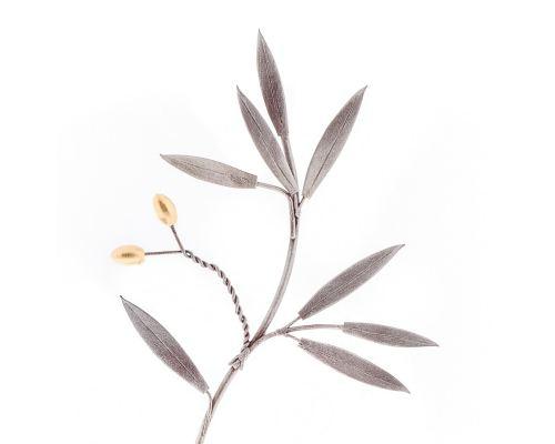 Κλαδί Ελιάς - Μεταλλικό Διακοσμητικό, Ασημί