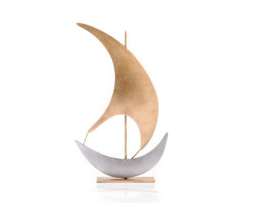 Καράβι με Πανί - Μεταλλικό Διακοσμητικό (28cm)