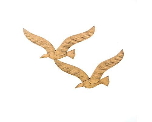 Γλάροι, Διακοσμητικό Τοίχου - Μοντέρνο, Μεταλλικό, Χρυσό