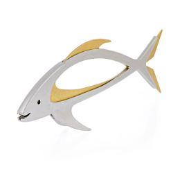 Γλυπτό Ψάρι - Μοντέρνο Μεταλλικό Έργο Τέχνης, Σχέδιο Α'