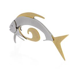 Γλυπτό Ψάρι - Μοντέρνο Μεταλλικό Έργο Τέχνης, Σχέδιο Β'