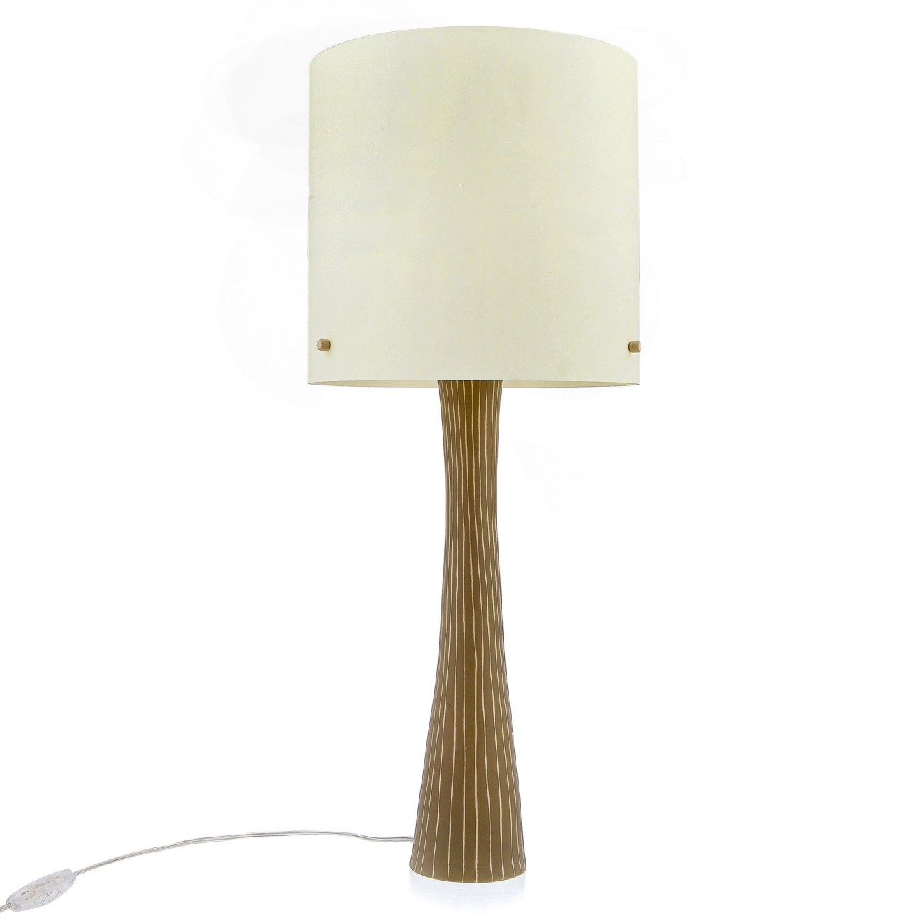 Handmade ceramic table lamp with shade beige large modern handmade ceramic table lamp with shade beige large geotapseo Choice Image