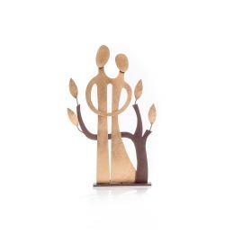 Ζευγάρι & Δέντρο - Μεταλλικό Διακοσμητικό Τοίχου και Επιτραπέζιο - Μικρό (20cm)