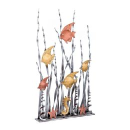 Μεταλλικό Διακοσμητικό - Τροπικά Ψάρια, Επιτραπέζιο, Μεγάλο