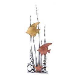 Μεταλλικό Διακοσμητικό - Τροπικά Ψάρια, Επιτραπέζιο, Μικρό