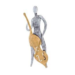 Μουσικός με Τσέλο - Μεταλλικό Διακοσμητικό Τοίχου (55cm)