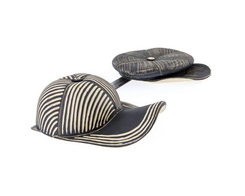 Κεραμικό Σετ Καπέλα σε Κρεμάστρα - Τραγιάσκα & Τζόκεϋ, Μαύρα - Διακοσμητικό Τοίχου 1