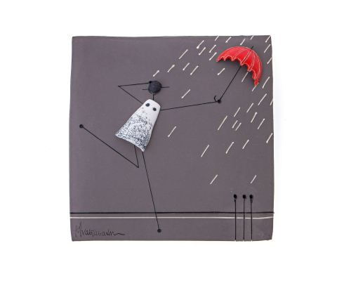 Διακοσμητικό Τοίχου, Βροχή - Μοντέρνο Κεραμικό, Ανάγλυφο