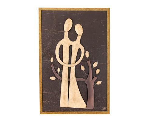 Διακοσμητικό Κάδρο Τοίχου - Ζευγάρι & Δέντρο (88cm)