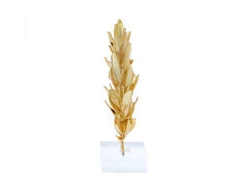 Στεφάνι Ελιάς - Επίχρυσο 24Κ Διακοσμητικό, Αψιδωτό