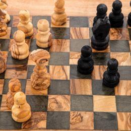 Σκάκι - Ξύλινο Παιχνίδι από Ελιά - Μεσαίο