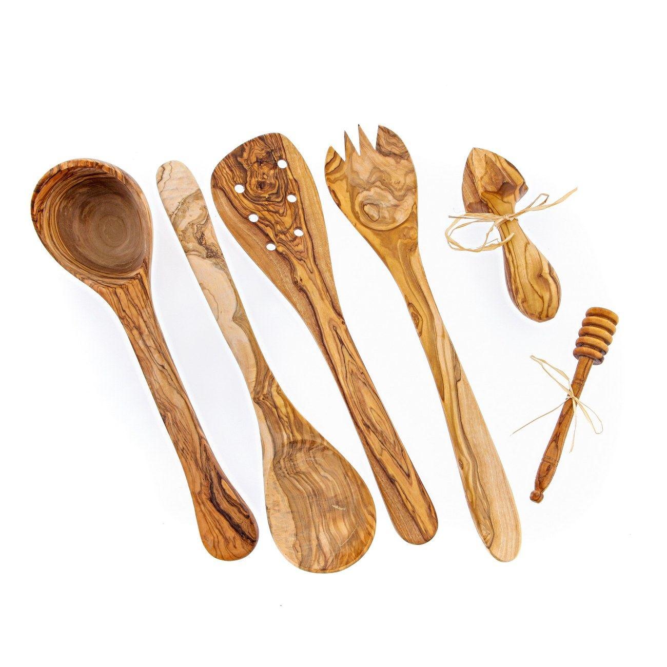 Wonderful Olive Wood Kitchen Utensils #7 - Elite Crafters
