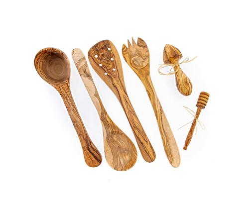 Εργαλεία Κουζίνας - Πλήρες Σετ, από Ξύλο Ελιάς