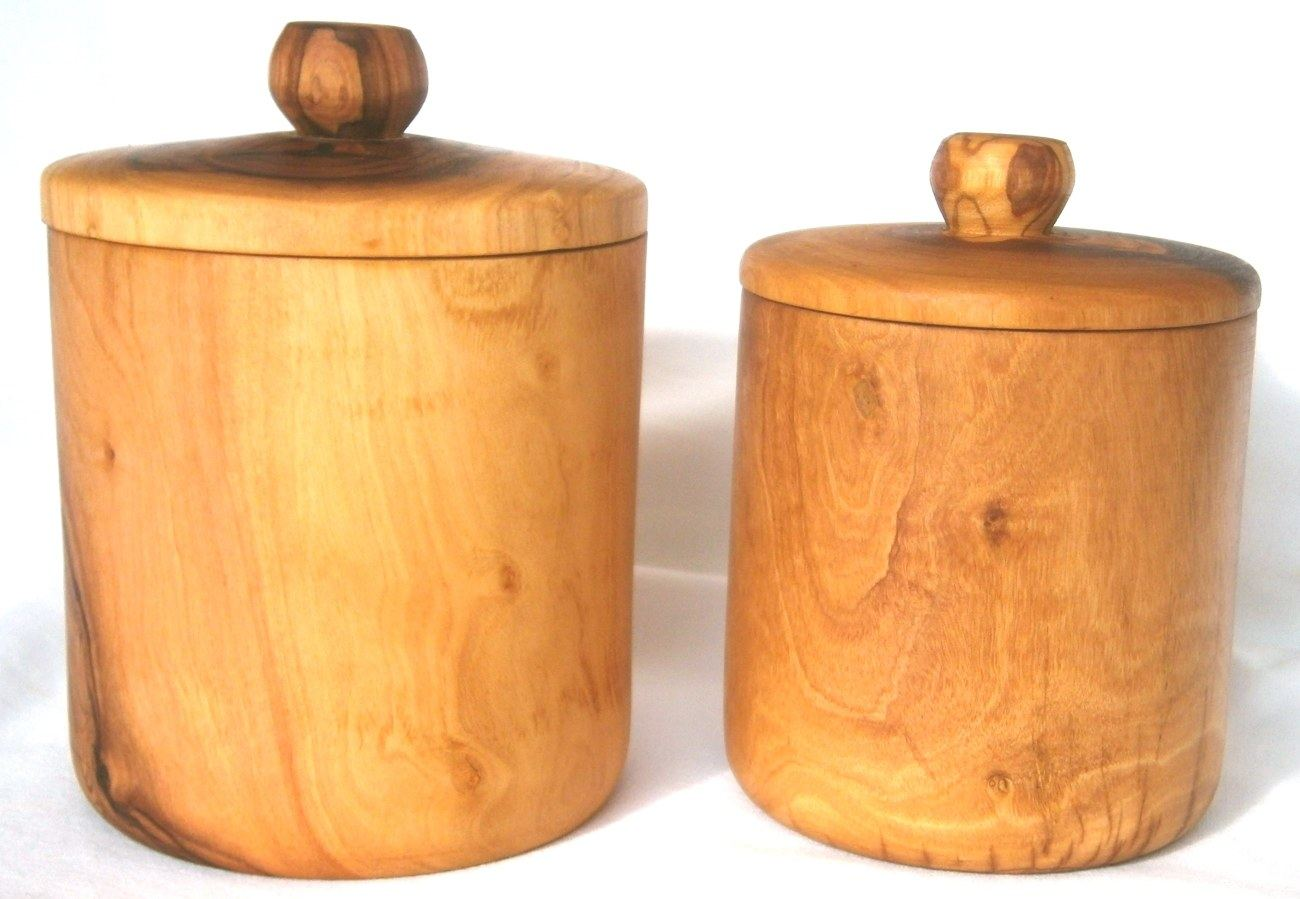 Charmant Olive Wood Coffee U0026 Sugar Containers Set Of 2   Handmade Set, Tall U0026 Short