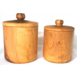 Σετ Ζάχαρη & Καφέ - Δοχεία από Ξύλο Ελιάς
